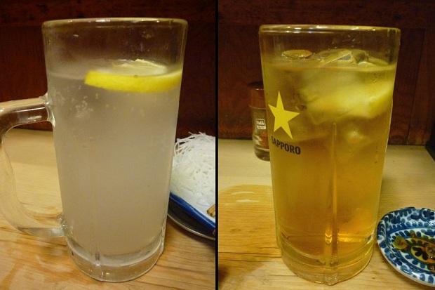『鳥升』レモンサワー・酎ハイ(各370円)