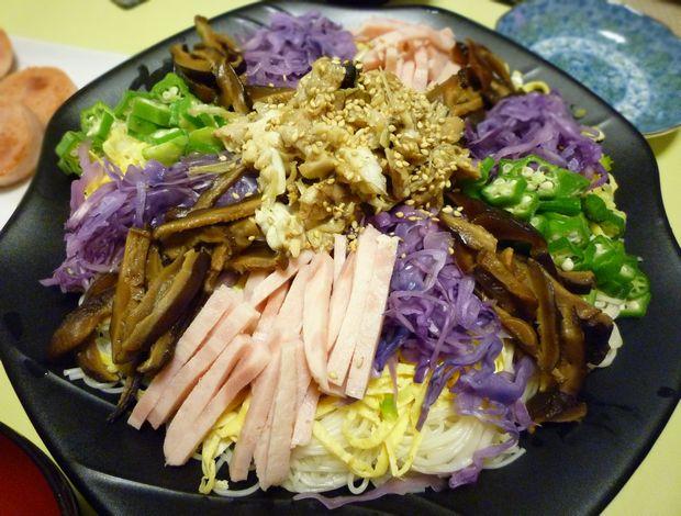 鯛荒煮のせ素麺