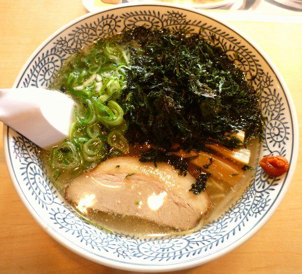 『丸源ラーメン 練馬関町店』有明産岩海苔の塩ラーメン(単品:714円)