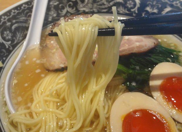 『中村屋 @ WeST PArK CaFE kichijoji』あじ玉らーめん・淡麗塩(麺リフト)