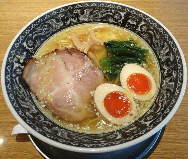 『中村屋 @ WeST PArK CaFE kichijoji』あじ玉らーめん・淡麗塩(800円)