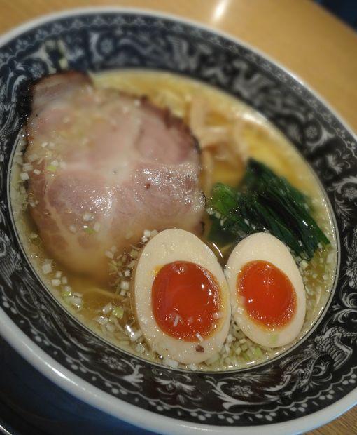 『中村屋 @ WeST PArK CaFE kichijoji』あじ玉らーめん・淡麗塩(アップ)