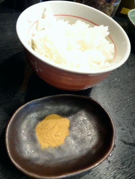 『無鉄砲つけ麺 無極』しめ雑炊(魚粉付)100円