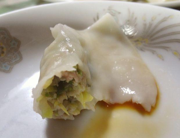 『品華亭』水餃子(断面図)