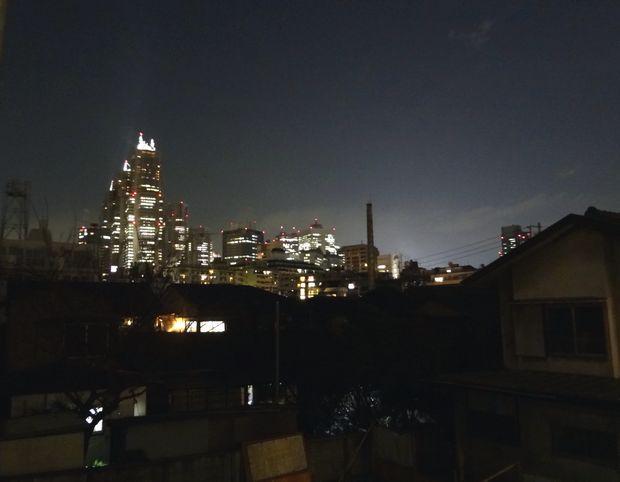 参宮橋近辺の坂から見た、新宿の夜景(2012年1月)