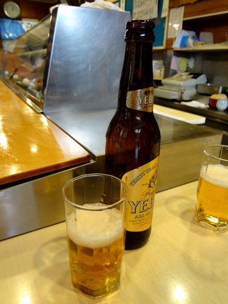 『栄寿司』ビール(小瓶)