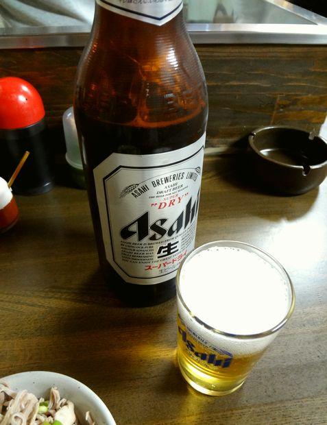 『馬上荘』ビール(大・600円)
