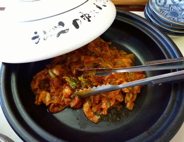 『天ぷらうどん』卓上キムチ(カレー味)
