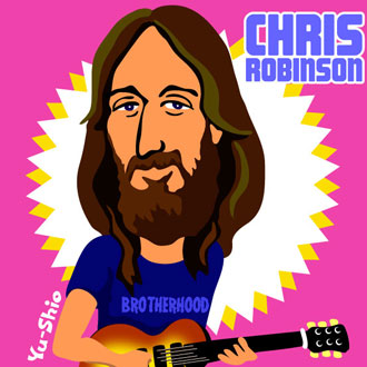 Chris Robinson caricature