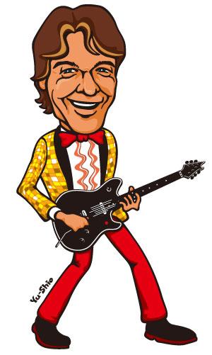 Eddie Van Halen caricature EverydayRock T Shirt