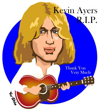 Kevin Ayers caricature