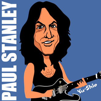 Paul Stanley Kiss caricature