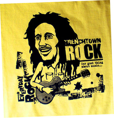 EverydayRock T Shirt Bob Marley Caricature