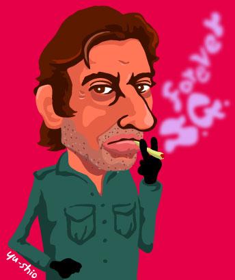 Serge Gainsbourg caricature EverydayRock T Shirt