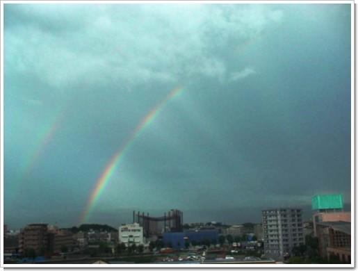 2重の虹(主虹・副虹)