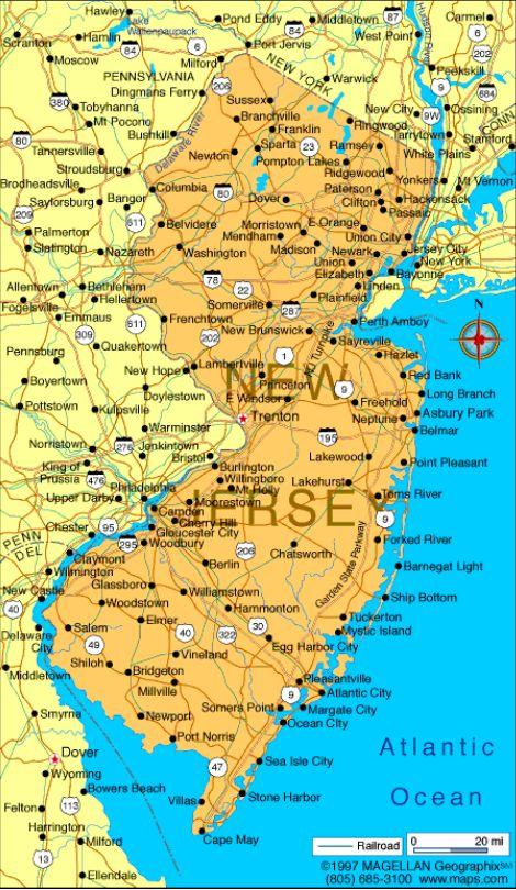 NJ Map