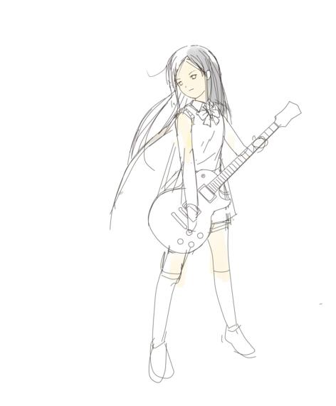 ギター少女ラフ