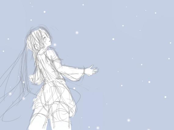 雪ミク(ラフ)