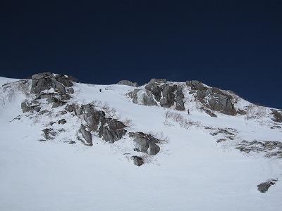 駒ヶ岳山頂から滑走