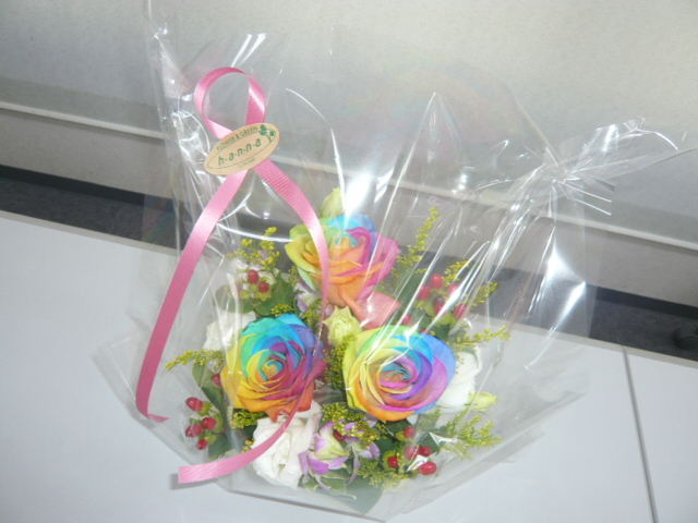 花(レインボーローズ)