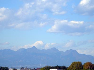 榛名の山々