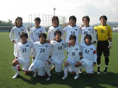 2009Iリーグ 平大/B 11/7/土(スタメン)