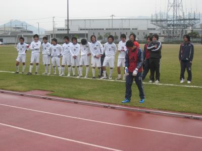 2009 県L 入れ替え戦 11/22/土(応援団への挨拶)