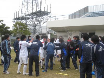 2009 県L 入れ替え戦 11/22/土(胴上げ)