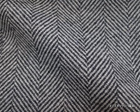 ヘリンボーンの厚手のコート生地