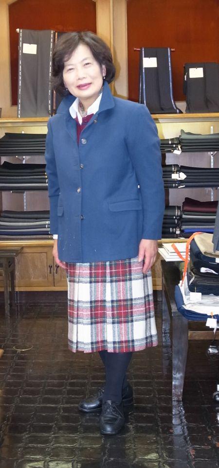 ハリスツイードのオーダースカート