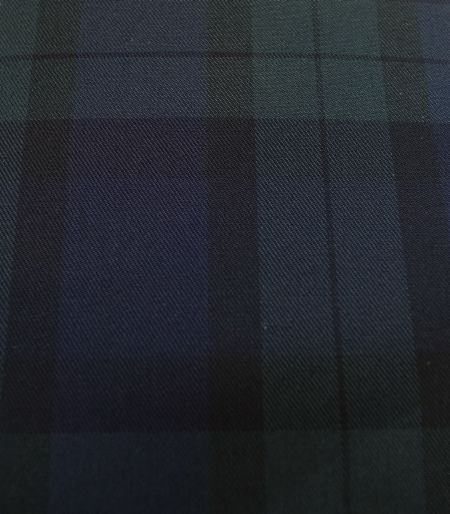 スーピマコットンのブラックウォッチ柄でスプリングオーダーコートを