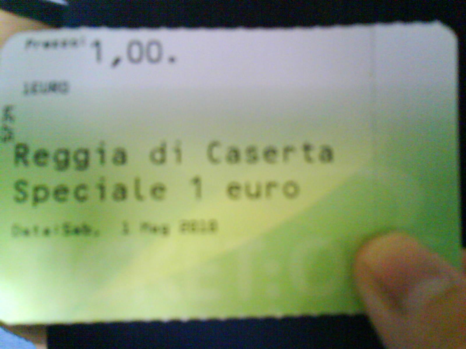 caserta biglietto