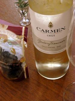 昼間のワインて独特に美味しゐのである