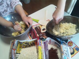 ママとクッキーを作る