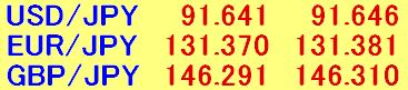 為替レートのみ表示