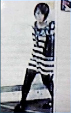 ショッピングセンターの防犯カメラに映った平岡都さん