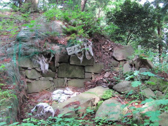 二の丸から見た本丸西門石垣2011.06.19