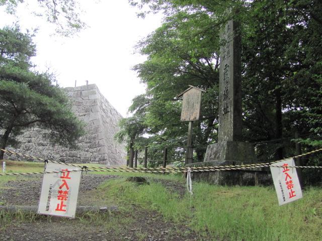 二本松城本丸石垣3