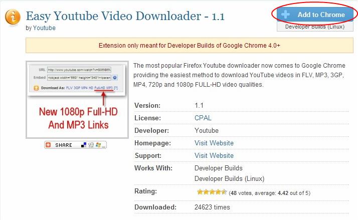 Google Chromeの拡張機能を使いまくろう Youtubeの動画を手軽に