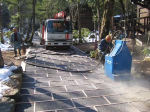 平湯の森施工