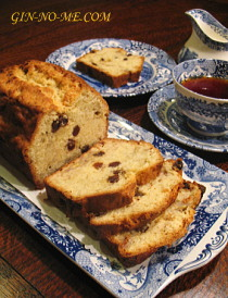 バナナブレッドと紅茶