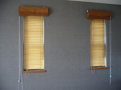 寝室 木製ブラインド
