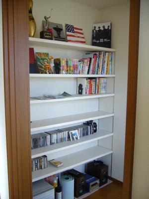 書斎 可動棚