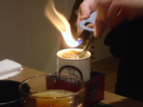 ひれ酒、あぶり中(2009.12.22)