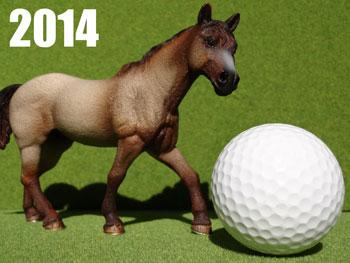 ゴルフ年賀状 2014 午 馬
