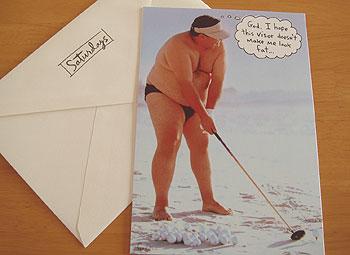 おもしろ・ゴルフ!グリーティングカード