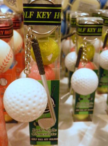 ゴルフボール&クラブのキーホルダー付き チョコレート