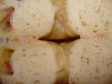 サラミチーズ断面