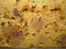 黒糖胡桃味噌小豆蒸しパン断面