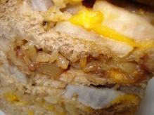 もち米黒糖胡桃味噌チェダーチーズレンコンのミルフィーユ
